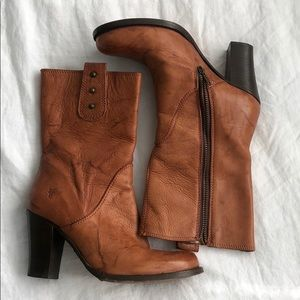 Marbled leather Frye Boots